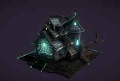 DARK HOUSE TOON 3D Model