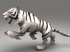 Cartoon Tiger – rig animated 3D Model