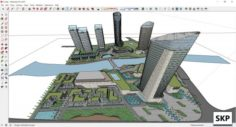 Sketchup residential and commerical and office complex C2 3D Model
