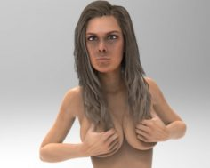 Ronda Rousey Nude Model 3D Model