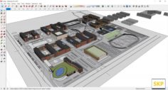 Sketchup College building C2 3D Model