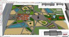 Sketchup Park J4 3D Model