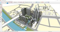 Sketchup hotel complex G10 3D Model