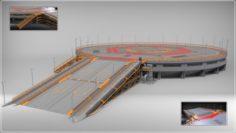 Landing platform 4 3D Model