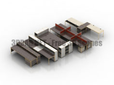 USM Modular Furniture part 03 Tables 3D Collection