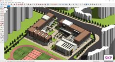 Sketchup College building B6 3D Model