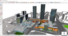 Sketchup Commercial and office complex N7 3D Model