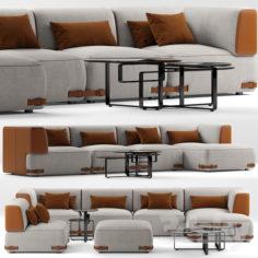 Sofa fendi soho                                      3D Model