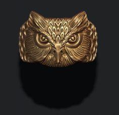 Owl ring 3D Model