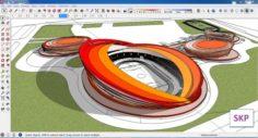 Sketchup Sport complex 101 3D Model