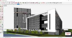 Sketchup residential complex A4 3D Model