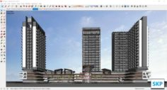 Sketchup Commercial and office complex M10 3D Model