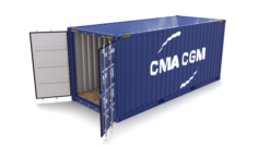 20ft Shipping Container CMA CGM 3D Model