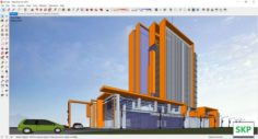 Sketchup Commercial and office complex M7 3D Model