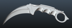 Karambit Knife 3D Model