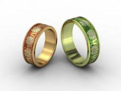 Wedding rings 3D-N- 006 3D Model
