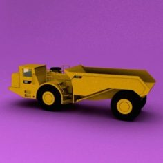 Underground Articulated Truck 3D Model