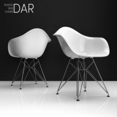 Eames DAR plastic side chair 3D Model