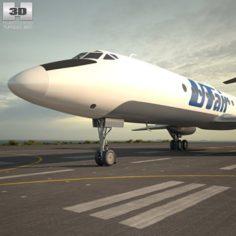 Tupolev Tu-134 3D Model
