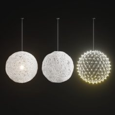 Handmade Lighting set 01 3D Model