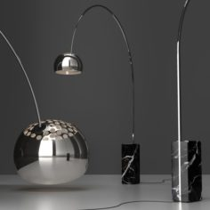 Floor Lamp Flos Arco BLACK 3D Model