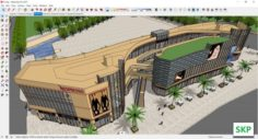 Sketchup Shopping mall E7 3D Model