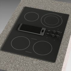 GE Profile Electric Cooktop 3D Model
