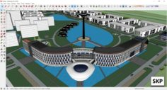 Sketchup residential complex C6 3D Model