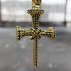 Cross of nails pendant 3D Model