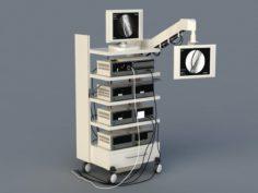 Medical Monitoring Equipment 3D Model