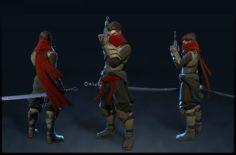Human ninja armor – A32 3D Model