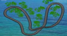 Circuit over the ocean 3D Model