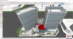 Sketchup Commercial and office complex N6 3D Model