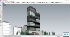 Sketchup office building J4 3D Model
