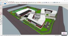 Sketchup school H10 3D Model