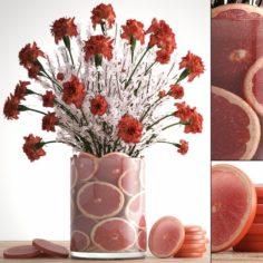 Decorative bouquet of flowers 3D Model