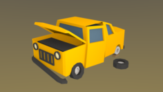 Broken Car Free 3D Model