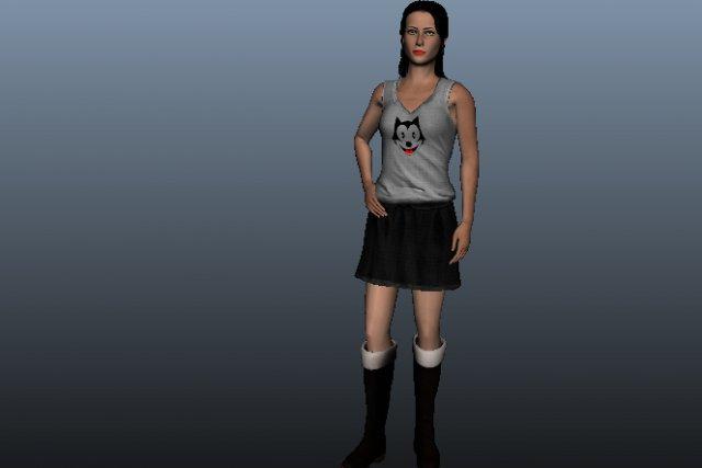 Katy Female Beauty 3D Model