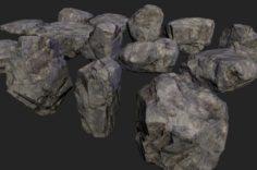 Lowpoly rocks 3D Model
