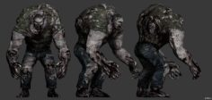 Zombie tanker 3D Model