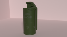 Smoke Grenade M18 Grey 3D Model