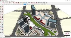 Sketchup shopping mall C9 3D Model
