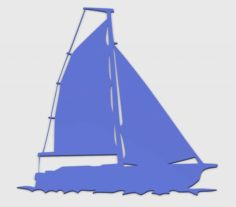 SAILING BOAT FOR WALL DECORATION5 3D Model
