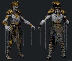 Zombie God King 3D Model