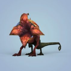 Fantasy Monster Flower 3D Model