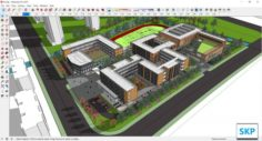 Sketchup school K5 3D Model