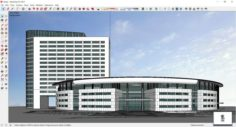 Sketchup office building J6 3D Model