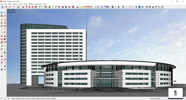 Sketchup office building J6 3D Model