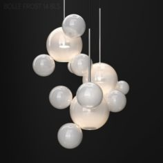 Chandelier Giopato Coombes BOLLE 14 bubble 2 FROST-SILVER 3D Model