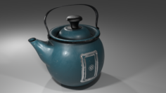 Kettle Retro for games and not only Free 3D Model